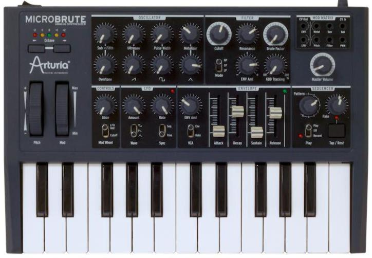 Arturia analogue synthesizer MicroBrute