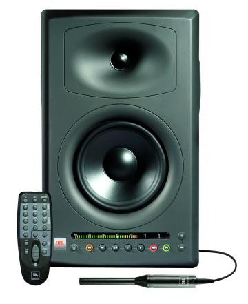 jbl lsr4328p studio monitor with calibration microphone and wireless remote control. Black Bedroom Furniture Sets. Home Design Ideas